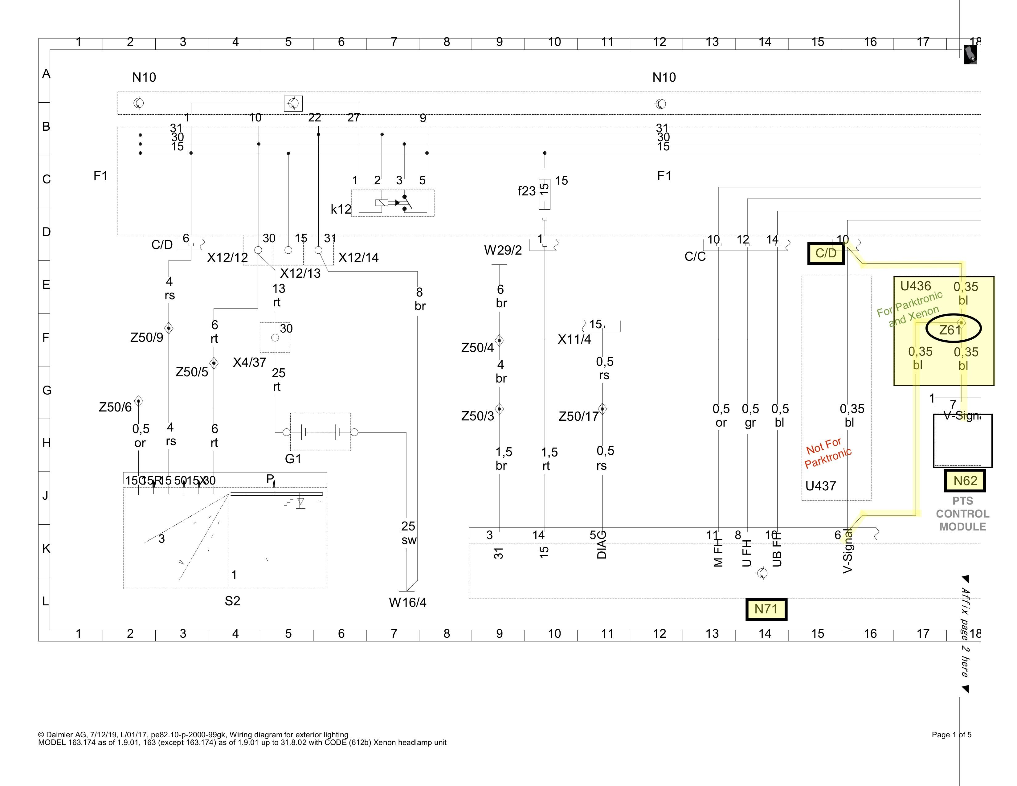 wiring diagram help request : parktronic & xenon | mercedes-benz forum  benzworld.org