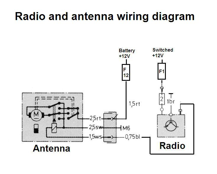 Car Power Antenna Wiring Diagram from www.benzworld.org