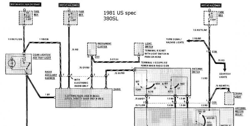 Help with original radio wiring (81 380sl) | Mercedes-Benz Forum  Vw Jetta Wiring Diagram Free Download on