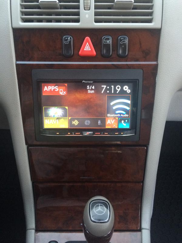Installed A 7 Quot Pioneer Navi Av Receiver In My W210