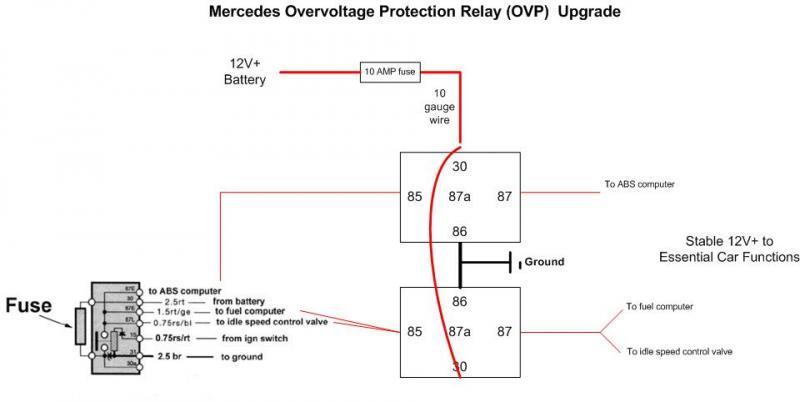 ovp relay upgrade ideas - mercedes-benz forum 65 pontiac wiring diagram #1