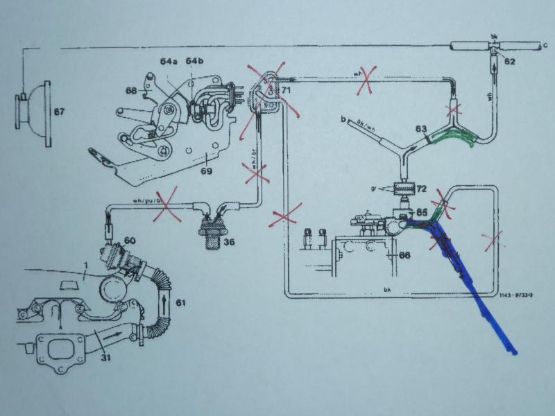 1983 300cdt w123 om617 vacuum hoses page 2 mercedes benz forum rh benzworld org OM617 Engine OM617 Gelandewagen