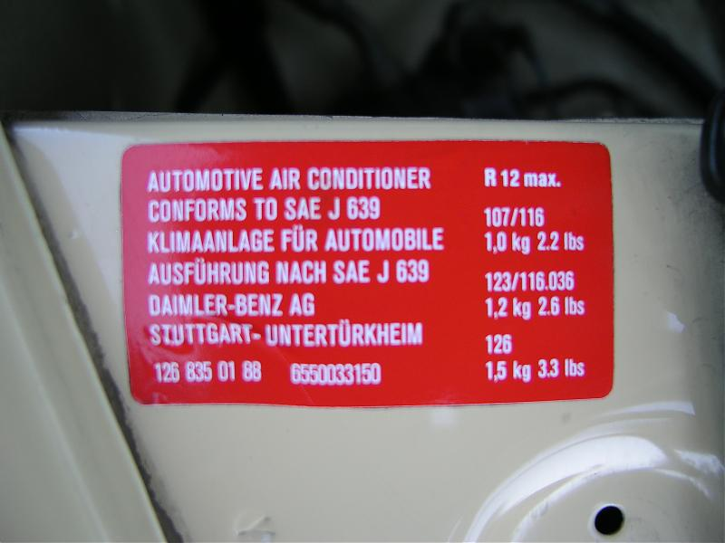 2007 Ford F150 Ac Freon Capacity