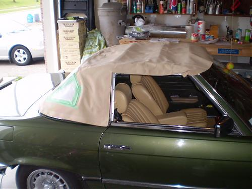 Mercedes R107 Convertible Soft Top Seal SET 4 pcs Above Door L+R Strip Rubber