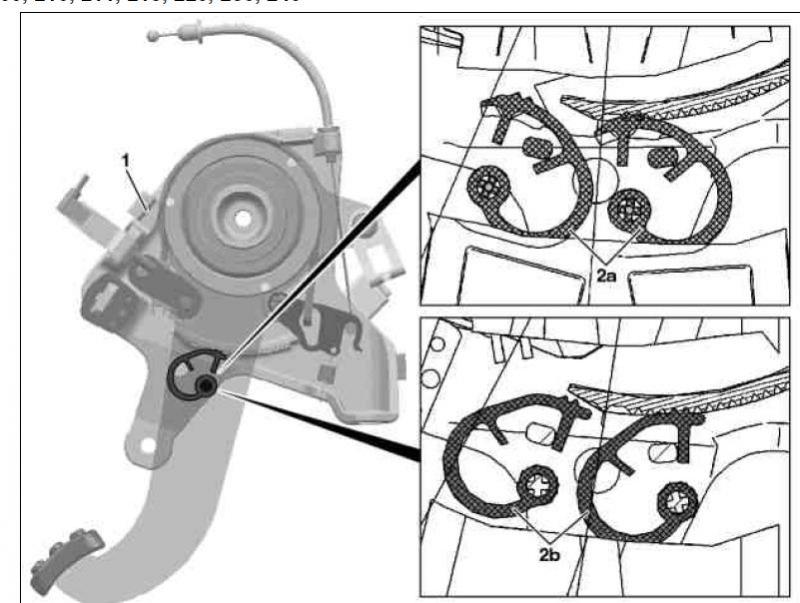 Mercedes C Class Foot Operated Parking Brake