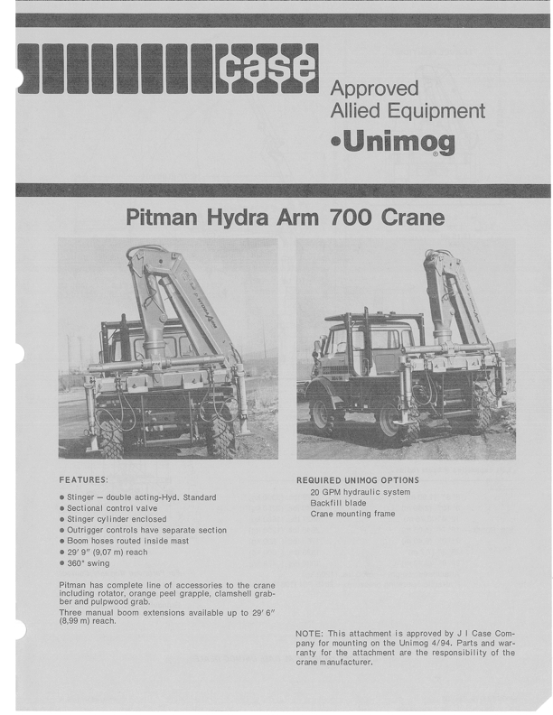 Pitman Hydra Arm 700 On Case MB4/94 - Mercedes-Benz Forum