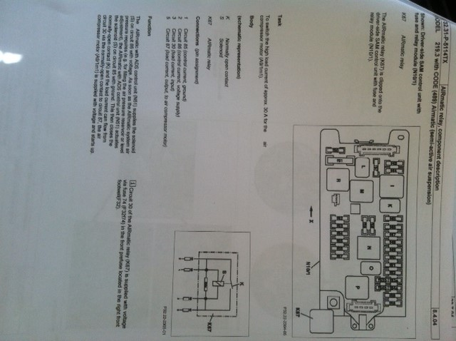 HELP! Airmatic compressor fuse and relay - Mercedes-Benz Forum