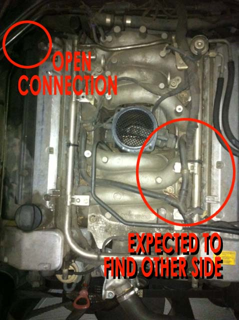 rough idle   loss of power 1997 e 420 mercedes benz forum L15 Engine Coolant Hose Diagram