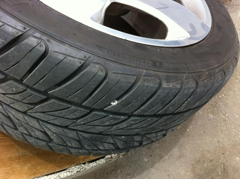 Reset Airmatic suspension? Car sitting lower on 1 side because of tire puncture-photo.jpg