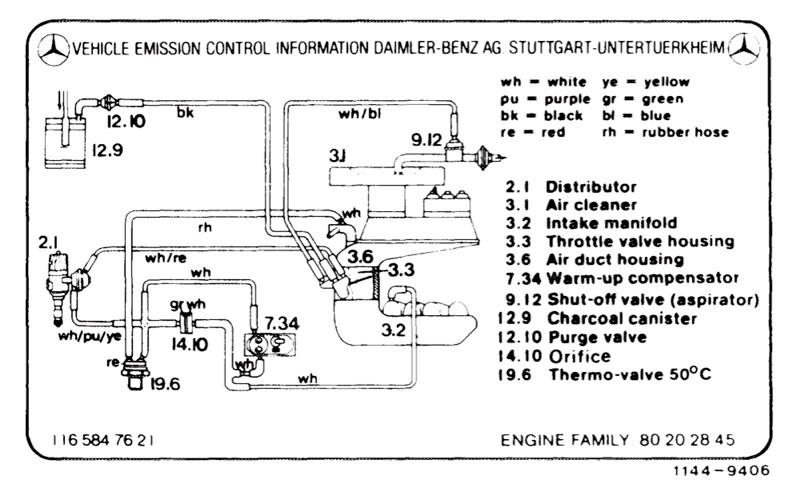 107    Vacuum       Diagrams     Page 7  MercedesBenz Forum