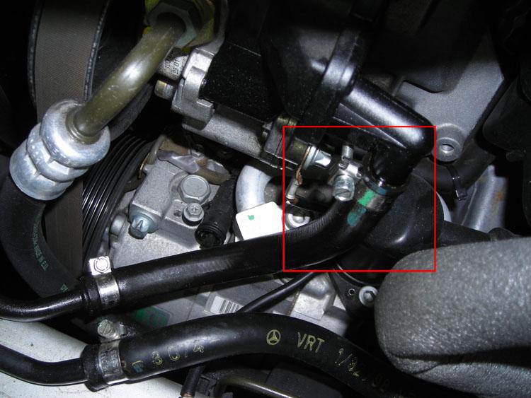 Power Steering Hose Leak Repair Mercedes Benz Forum
