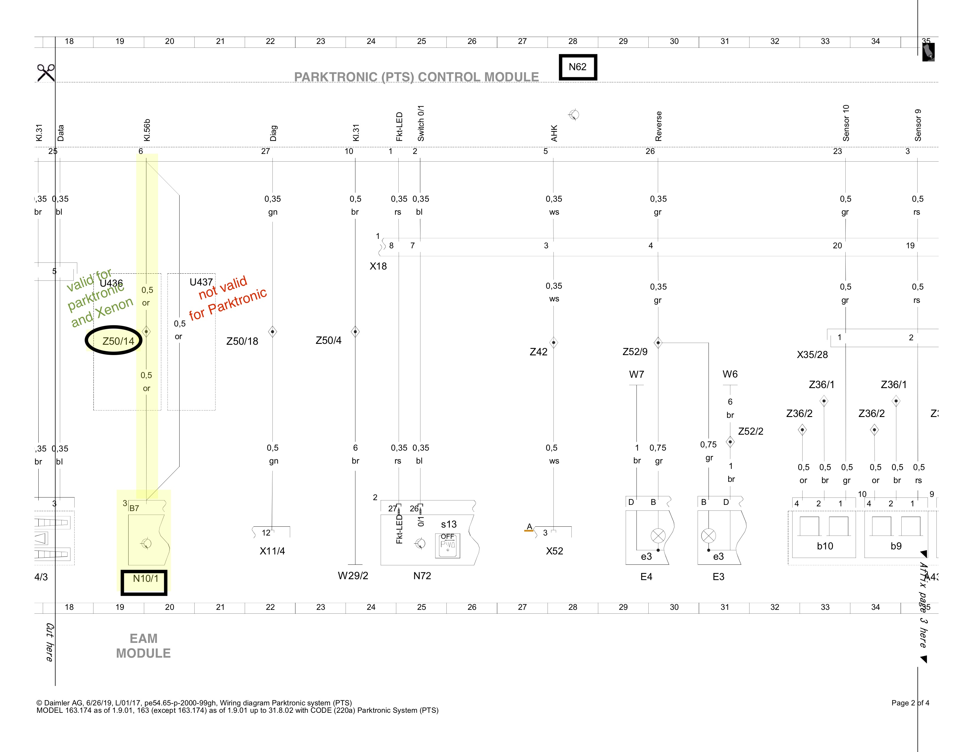 Wiring Diagram Help Request : Parktronic & Xenon   Mercedes-Benz ForumBenzWorld