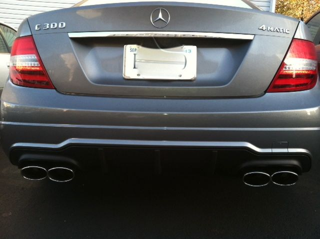 Amg Style Quad Exhaust Tips Installed Mercedes Benz Forum