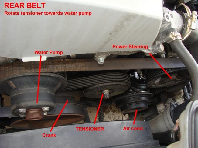 How Change Belts Slk Rear Pulley on Serpentine Belt Diagram