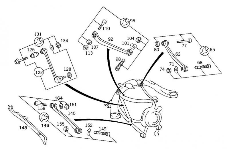 Edit The 4th One 122 Is What Mb Calls A Tie Rod 1403503453 1403501853 1403503053: Mercedes 190 Rear Suspension Diagram At Downselot.com