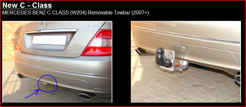 PCT Towbar for Mercedes C-Class Estate 2008-2014 Swan Neck Tow Bar S204