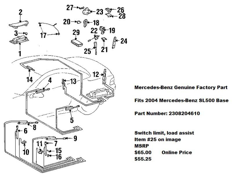 2003 sl500 parts diagram wiring schematic wiring diagram for Mercedes benz sl500 parts