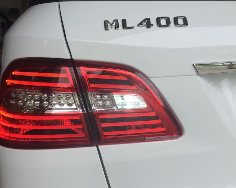2015 Ml350 Rear Tail Swap With European Amber Tunr Signal