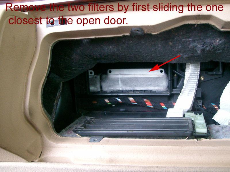 1999 Mercedes Benz E320 >> Air ventilation filter / cabin filter change - Mercedes ...
