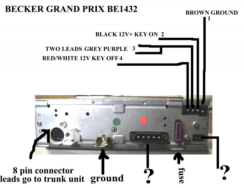Becker 1432 Wiring Information