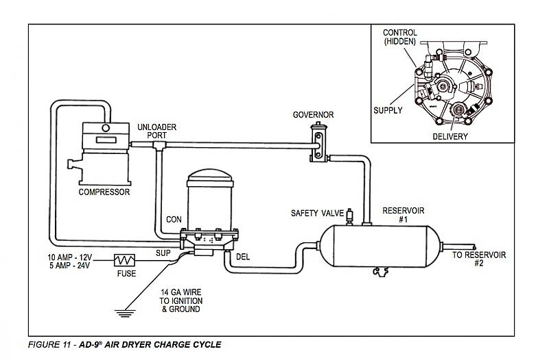 truck air dryer schematic