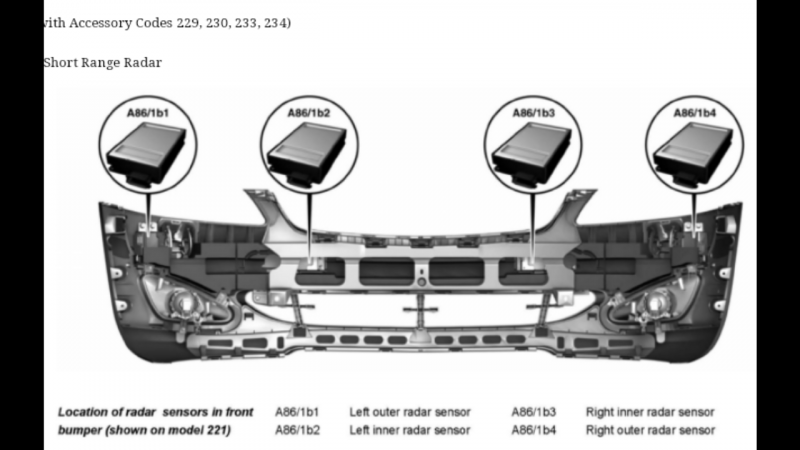 RADAR SENSORS CONTROL UNIT distronic plus - Mercedes-Benz Forum