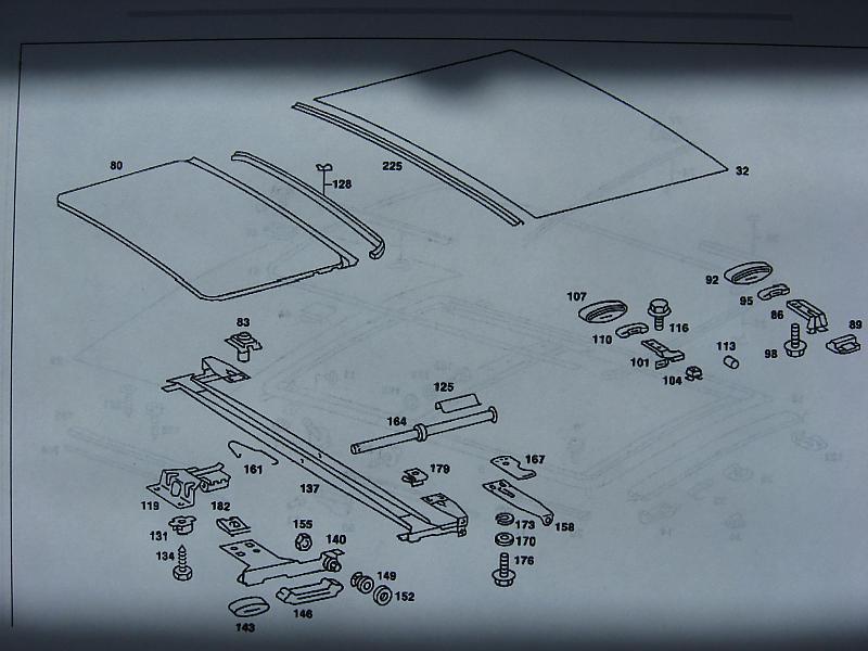 D Sunroof Parts Diagram Sliding Roof on Car Parts Diagram
