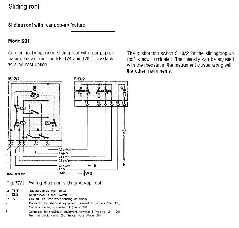 [DIAGRAM_4FR]  Wiring diagram sunroof/sliding roof for MY 1986 | Mercedes-Benz Forum | Wiring Diagram For Sunroof |  | BenzWorld.org
