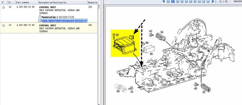 srs control module location mercedes benz forum. Black Bedroom Furniture Sets. Home Design Ideas