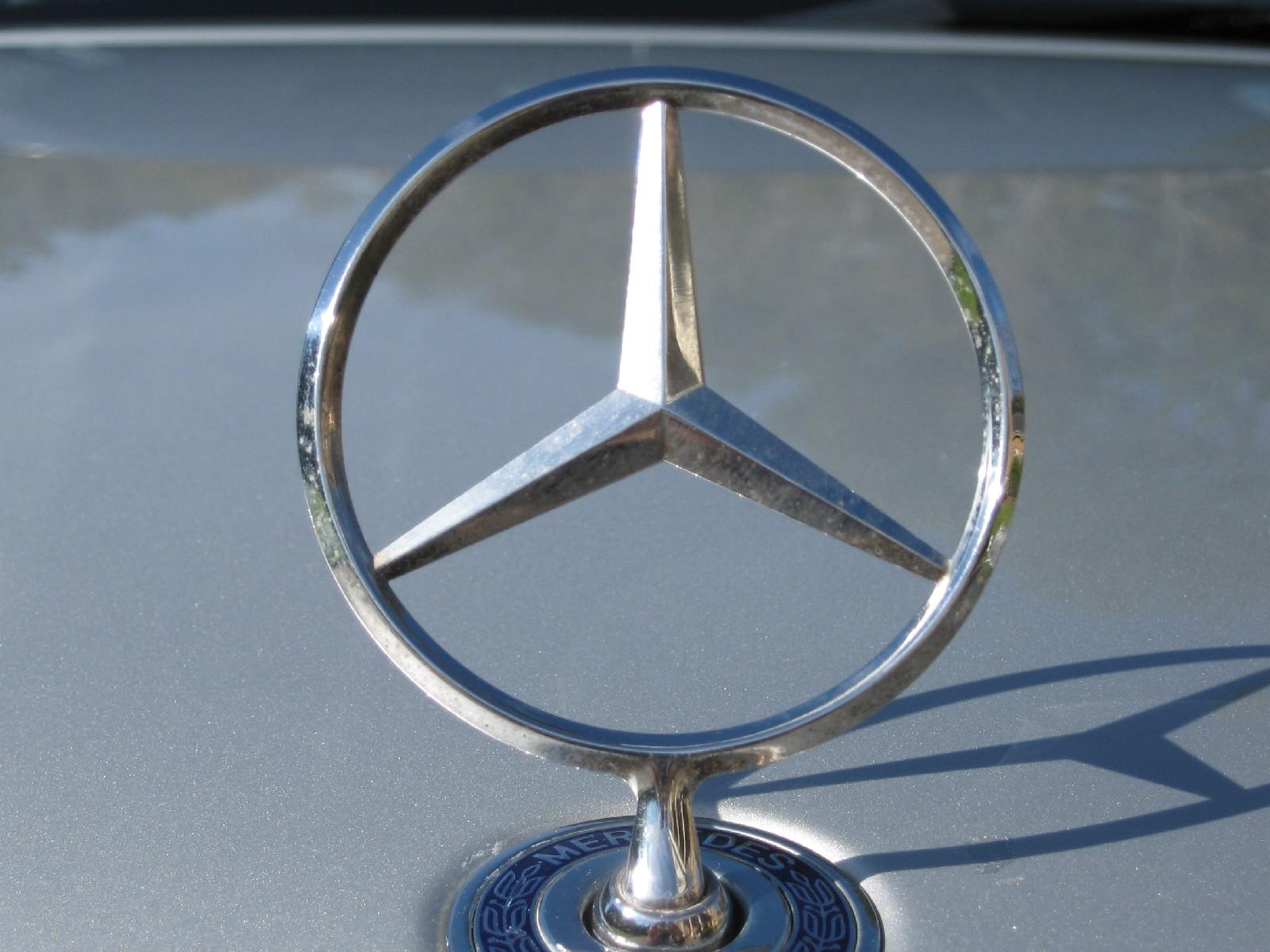 Mercedes hood ornament