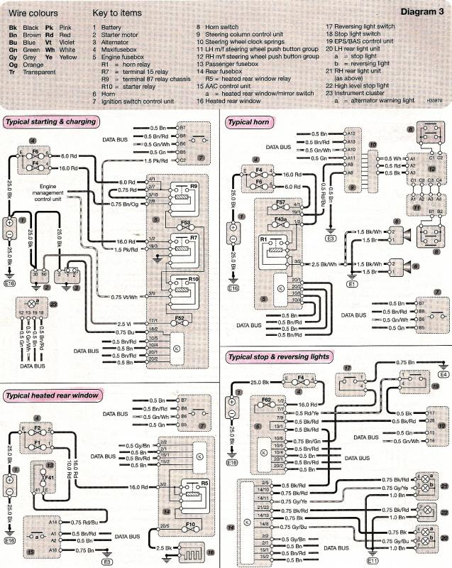 mercedes benz wiring schematics wiring diagram heated rear window and stop reversing lights click image for larger version start horn