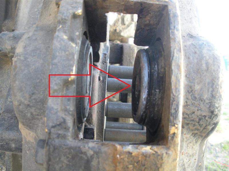Drivers side brake caliper pistons stuck out (only on one ...