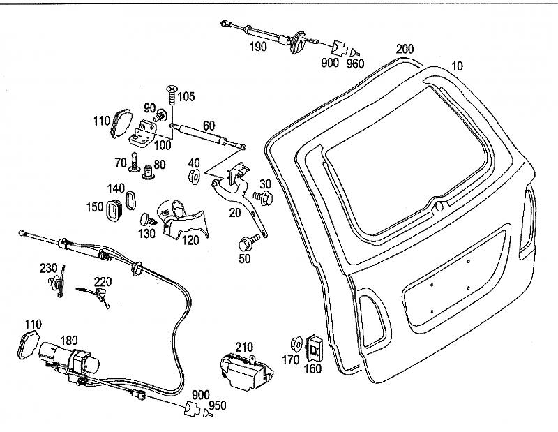 E320 Mercedes Wagon Tailgate Wiring Diagram