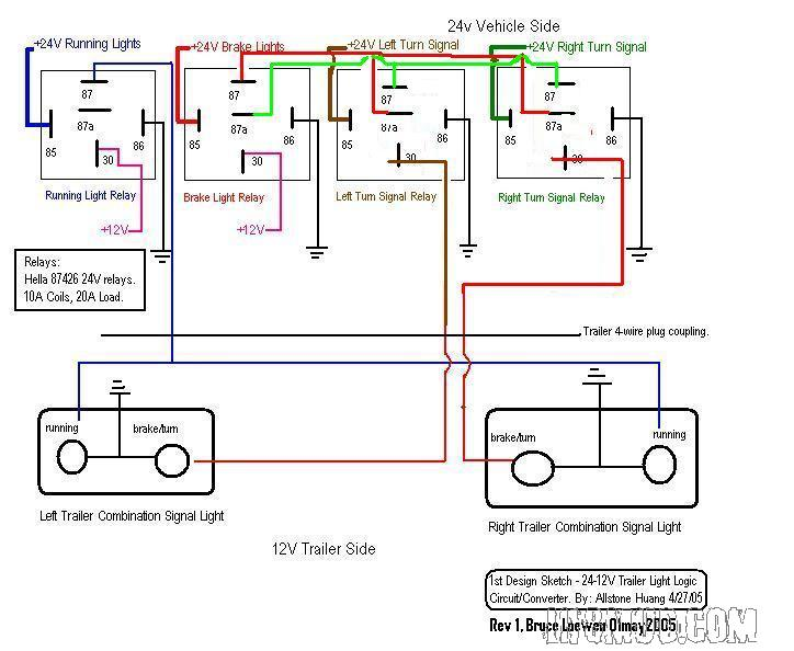 trailer converter wiring schematic 4 wire 24v truck with 12v trailer - wiring diagram - mercedes ... schematic 4 wire dryer cord diagram #5