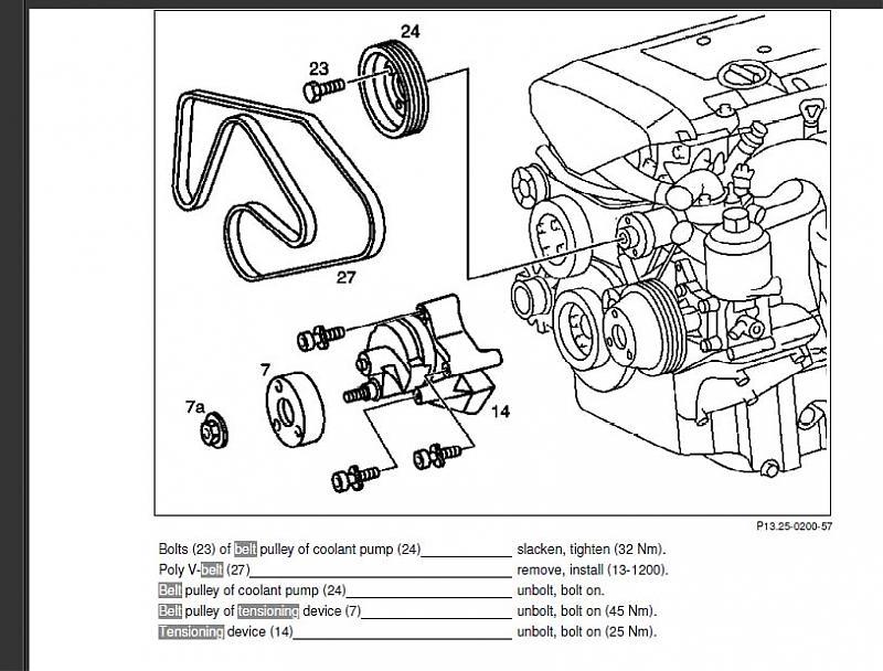 1997 mercedes c230 belt diagram any trick to getting pulley of serp belt tensioner 98 c230 ... 07 c230 belt diagram