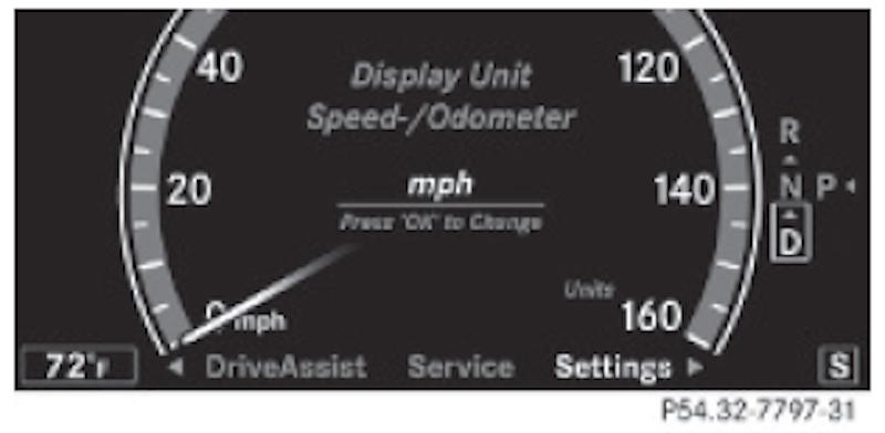 Speedometer dial MPH -> KPH - Mercedes-Benz Forum