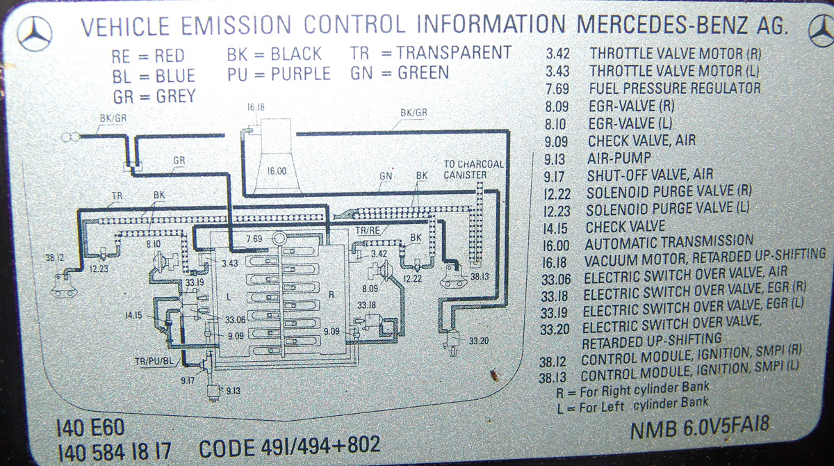 Vacuum Hoses Diagram Mercedes Benz Forum 1985 Mercedes 300D Vacuum Diagram  Mercedes C280 Vacuum Diagram
