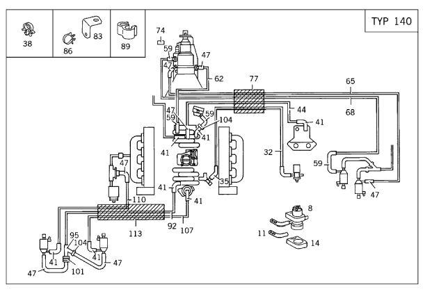 Vacuum Hoses Diagram