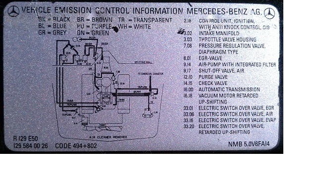D Vacuum Hose Help Needed Sl Vacuum Schematic on Under Car Diagram