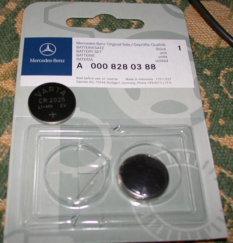 how to change battery in mercedes key fob 2012