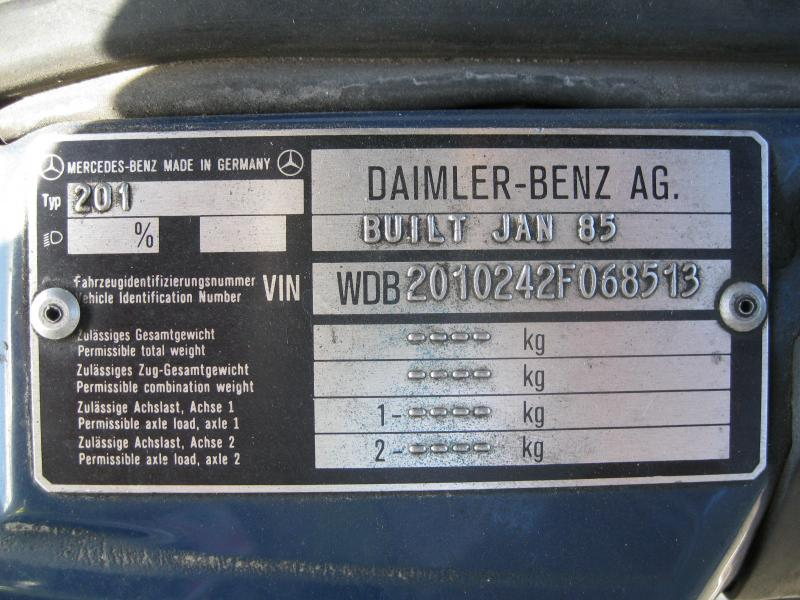 Mercedes Sprinter Chassis Plate