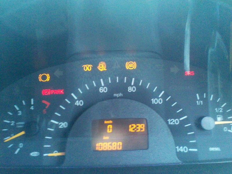 Re Fitting Steering Lock (639 2004 CDI) Vito Dash