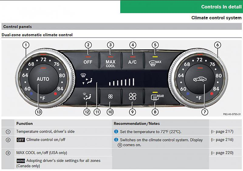 AC/Heat dual climate controls - Page 2 - Mercedes-Benz Forum