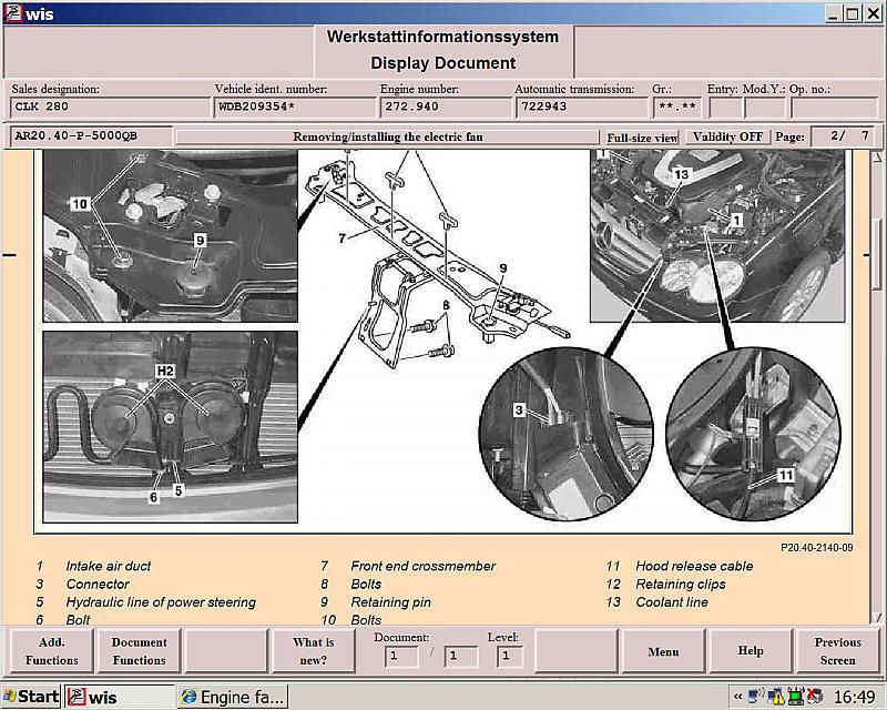 Engine Fan Will Not Turn Off 2004 W209 Clk Mercedes