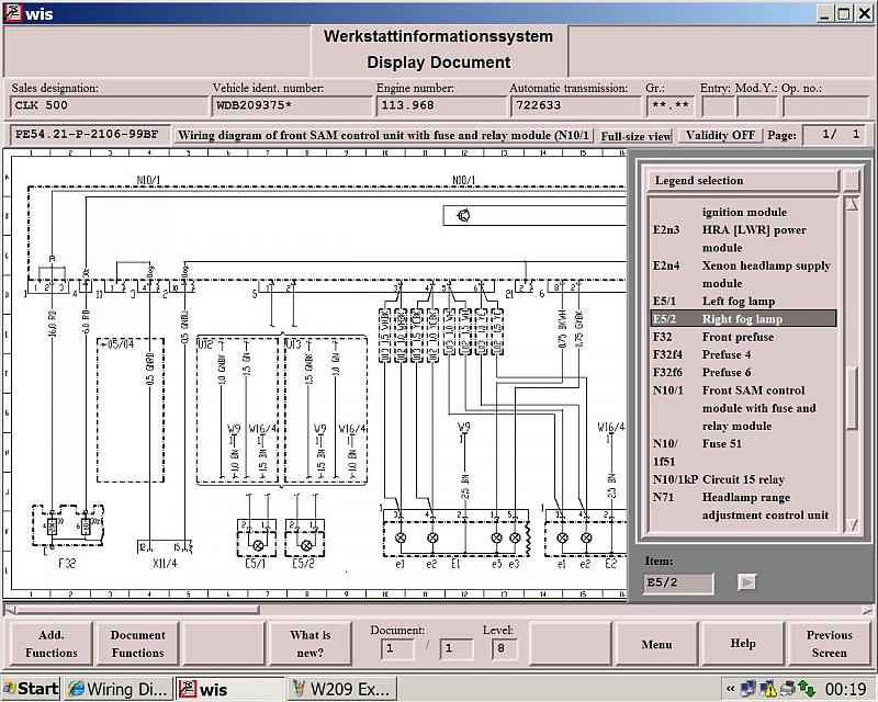 Wiring Diagram For W209