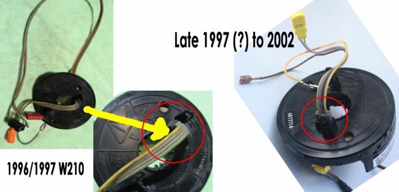 rewiring steering wheel airbag and horn mercedes benz forum rh benzworld org Air Compressor Wiring Diagram Compressor Relay Wiring Diagram