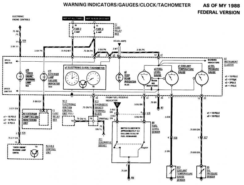 W126 88 560SEL Electrical Short Tracing Saga | Mercedes-Benz ...  Club Car Wiring Diagram Charge Indicator on club car electrical diagram, 89 club car engine, 89 gmc wiring diagram, club car 36v batteries diagram, club car gas engine diagram, club car schematic diagram, club car golf cart parts diagram, 89 bmw wiring diagram, 1998 club car parts diagram,