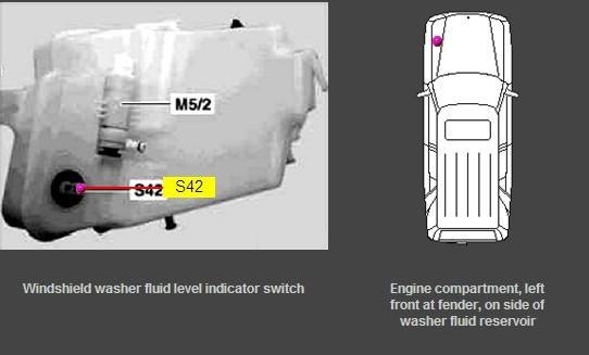 2002 Ml500 Coolant And Washer Level Sensor Location
