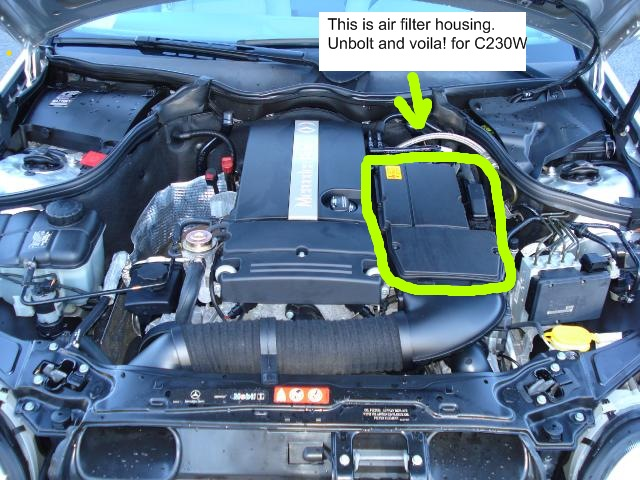 C230wz 2007 How Can I Change The Air Filter Mercedesbenz Forum