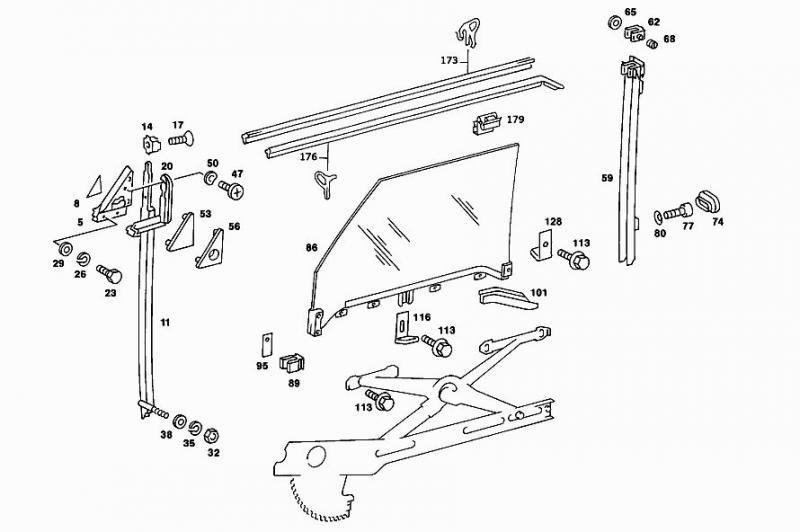 door glass adjustment or top adjustment